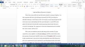 Tech and Tools - Assignment - Week 3 (Applying Diffusion Principles for Adoption) | Documents and Forms | Research Papers