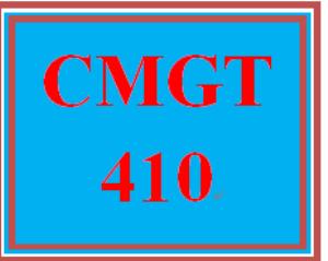 CMGT 410 Week 1 Project versus Operations | eBooks | Education