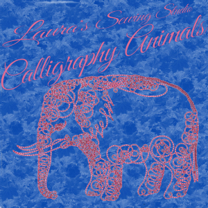 laura's calligraphy animals sew