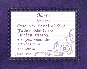 Name Blessings - Keri | Crafting | Cross-Stitch | Religious