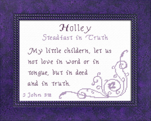 Name Blessings - Holley | Crafting | Cross-Stitch | Religious