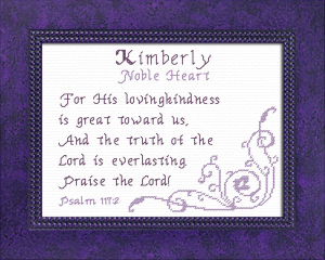 Name Blessings - Kimberly 3 | Crafting | Cross-Stitch | Religious