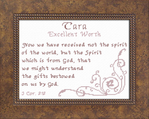 Name Blessings - Tara | Crafting | Cross-Stitch | Religious