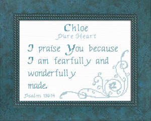 Name Blessings - Chloe 4 | Crafting | Cross-Stitch | Religious