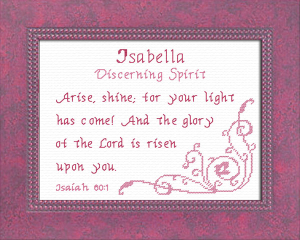Name Blessings - Isabella 2 | Crafting | Cross-Stitch | Religious