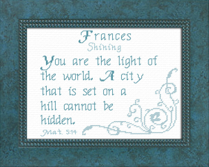 Name Blessings - Frances | Crafting | Cross-Stitch | Religious