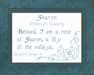 Name Blessings - Sharon 2 | Crafting | Cross-Stitch | Religious