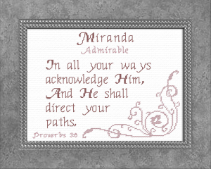 Name Blessings - Miranda | Crafting | Cross-Stitch | Religious