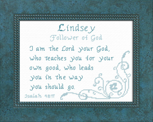 Name Blessings - Lindsey | Crafting | Cross-Stitch | Religious