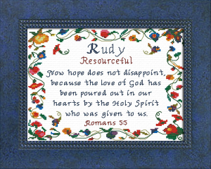 Name Blessings - Rudy | Crafting | Cross-Stitch | Religious