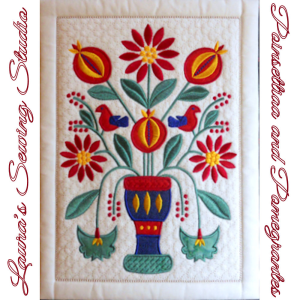 Poinsettias and Pomegranates EMD | Crafting | Embroidery
