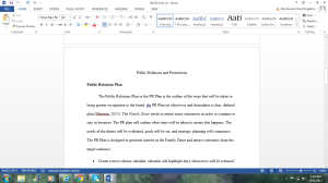 BA330 Unit Six: Public Relations and Promotions | Documents and Forms | Research Papers