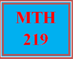 MTH 219 Week 1 Course Introduction and Week 1 Overview | eBooks | Education