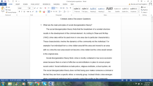 Criminal Justice Discussion Questions | Documents and Forms | Research Papers