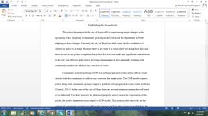 Establishing the Groundwork | Documents and Forms | Research Papers