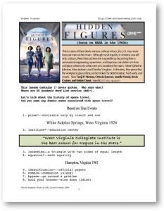 hidden figures, whole-movie english (esl) lesson