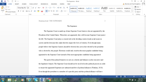 The Supremes | Documents and Forms | Research Papers