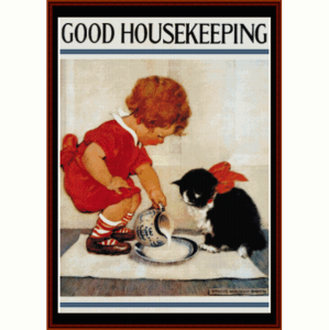 Good Housekeeping - Vintage Poster cross stitch pattern by Cross Stitch Collectibles | Crafting | Cross-Stitch | Wall Hangings