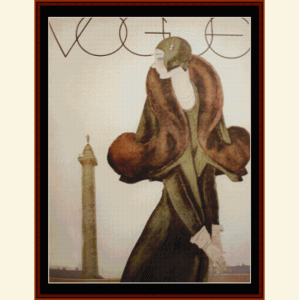 Vogue - Vintage Poster cross stitch pattern by Cross Stitch Collectibles | Crafting | Cross-Stitch | Wall Hangings