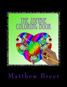 the zombie coloring book