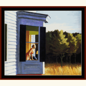 cape cod morning - hopper cross stitch pattern by cross stitch collectibles