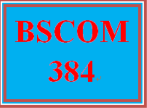 BSCOM 384 Entire Course | eBooks | Education