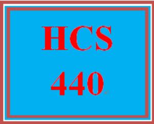 HCS 440 Entire Course | eBooks | Education