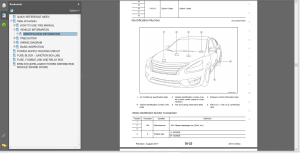 nissan altima l33 2018 service manual wiring diagrams