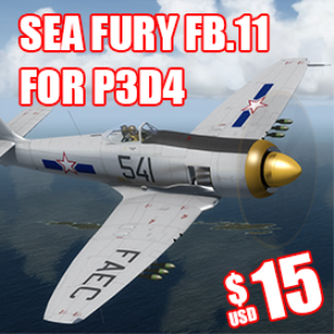 Sea Fury P3D4 | Software | Games