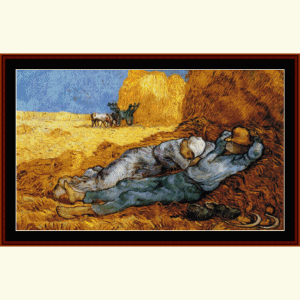 la meridienne - van gogh cross stitch pattern by cross stitch collectibles
