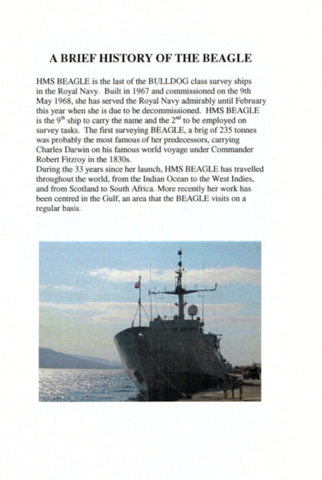 Second Additional product image for - HMS Beagle Four Books - Royal Navy Fleet Survey Vessel HMS Beagle
