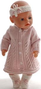dollknittingpatterns 0179d alison - kjole, bukse, pannebånd og sokker-(norsk)