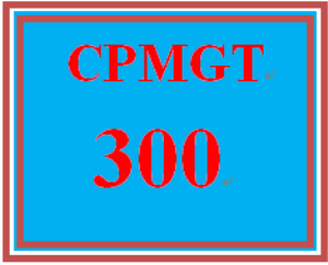 CPMGT 300 Week 1 Overview of a Project | eBooks | Education