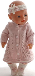 dollknittingpatterns 0179d alison - jurk, broekje, haarband, sokjes-(nederlands)