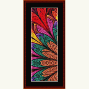 fractal 639 bookmark cross stitch pattern by cross stitch collectibles