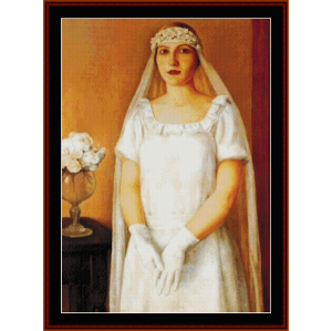 the bride - antonio donghi cross stitch pattern by cross stitch collectibles
