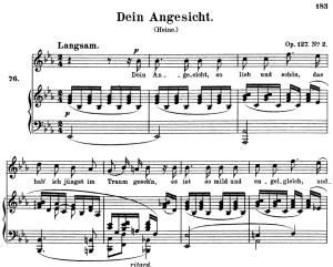 Dein Angesicht, Op.127 No.2 High Voice in E-Flat Major, R. Schumann, C.F. Peters   eBooks   Sheet Music