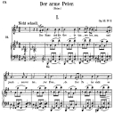 Der arme Peter, Op.53 No.3, High Voice in G Major, R. Schumann, C.F. Peters | eBooks | Sheet Music
