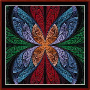 Fractal 643 cross stitch pattern by Cross Stitch Collectibles | Crafting | Cross-Stitch | Wall Hangings