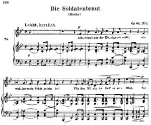Die Soldatenbraut, Op.64 No.3, High Voice in B-Flat Major, R. Schumann, C.F. Peters   eBooks   Sheet Music