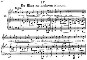 du ring an meinem finger, op.42 no.4, high voice in e-flat major, r. schumann (frauenliebe und leben), c.f. peters