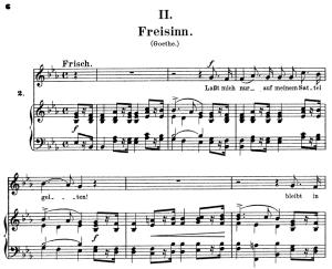 Freisinn, Op.25 No. 2 in E-Flat Major, R. Schumann (Myrthen), C.F. Peters | eBooks | Sheet Music