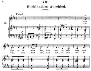 Hochländers Abschied, Op.25 No.13, High Voice in B minor, R. Schumann (myrthen), C.F. Peters | eBooks | Sheet Music