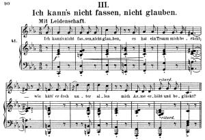 Ich kann's nicht fassen, Op.42 No.3, High Voice in C minor, R. Schumann (Frauenliebe und Leben), C.F. Peters | eBooks | Sheet Music