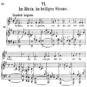 Im Rhein, im heiligen Strome, Op.48 No.6, High Voice in in E minor, R. Schumann (Dichterliebe), C.F. Peters | eBooks | Sheet Music