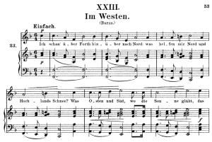 im westen, op.25 no.23, high voice in in f major, r. schumann (myrthen), c.f. peters