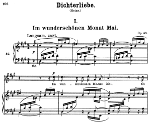 Im wunderschönen Monat Mai Op.48 No.1, High Voice in in F-Sharp minor, R. Schumann (Dichterliebe) | eBooks | Sheet Music