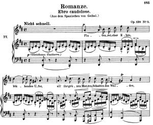 Romanze ebro caudolose, Op.128 No.5 , High Voice in D Major, R. Schumann, C.F. Peters | eBooks | Sheet Music