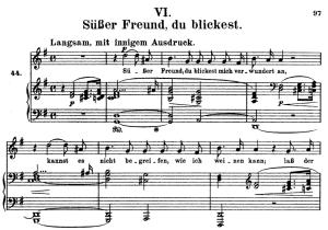 süsser freund, du blickest, op.42 no.6, high voice in g major, r. schumann (frauenliebe und leben), c.f. peters