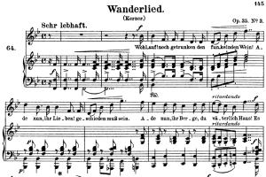 wanderlied op.35 no.3, high voice in b-flat major, r. schumann, c.f. peters